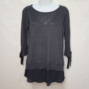 Dual Layered Blouse w/ 3/4 Length Sleeves